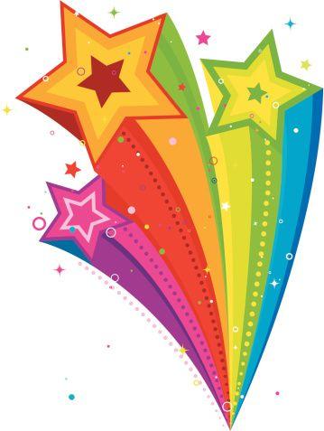 multicoloured star clip art.