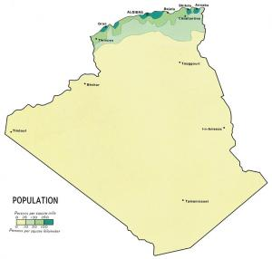 Algeria Population Density 1971 Clip Art Download.