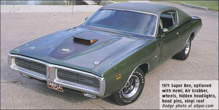 Dodge Super Bee: fast, inexpensive muscle cars.