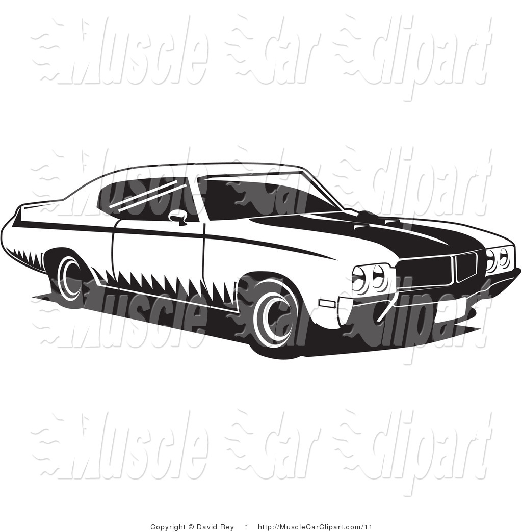 Muscle Car Clipart Black And White.