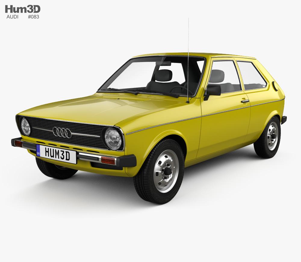 Audi 50 (Typ 86) 1974 3D model.