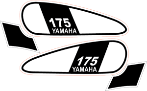 dt yamaha 175 1975 Logo Vector (.EPS) Free Download.