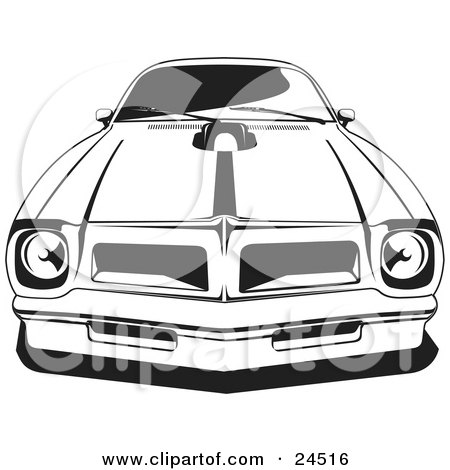 Clipart Illustration of a 1976 Or 1977 Trans Am Made By Pontiac.