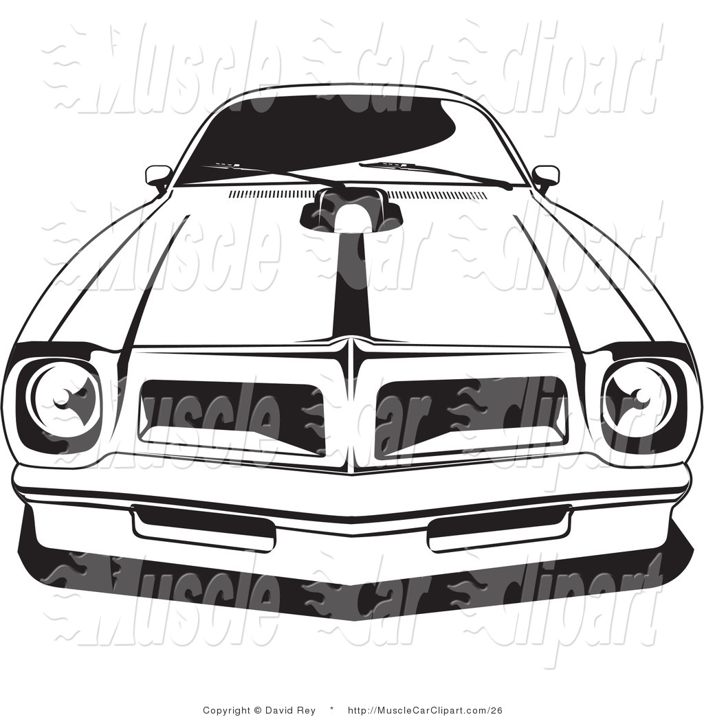 Automotive Clipart Of A 1976 Or 1977 Trans Am Made By Pontiac By.