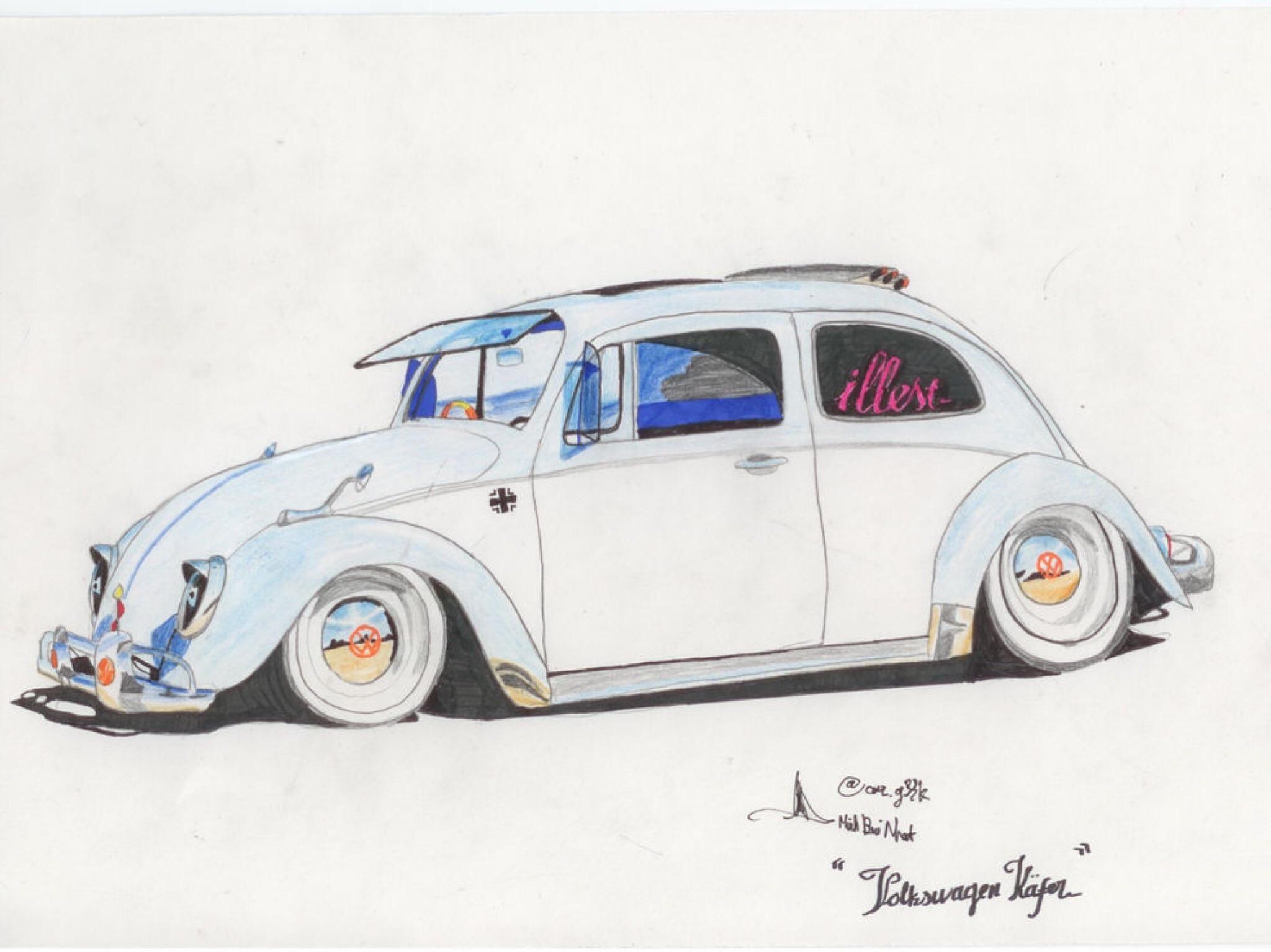 I drew a 1976 Volkswagen Käfer Car_geek.