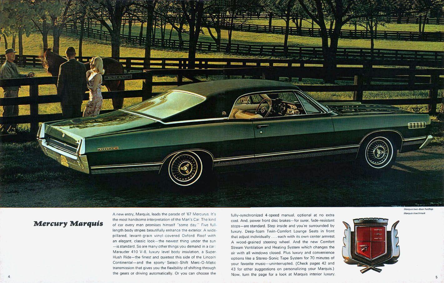 1967 Mercury Marquis Two Door Hardtop.