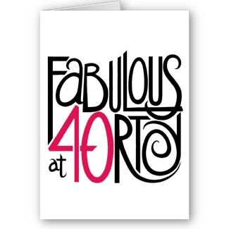 40th Birthday Clip Art.