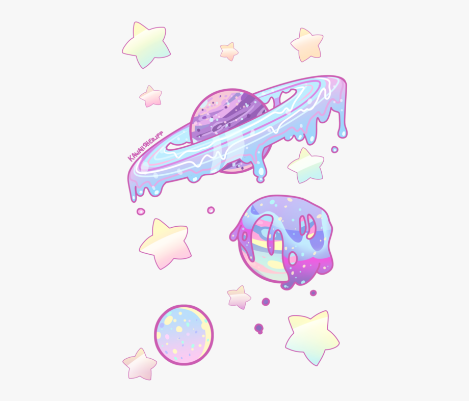 Planets Clipart Tumblr Cartoon.