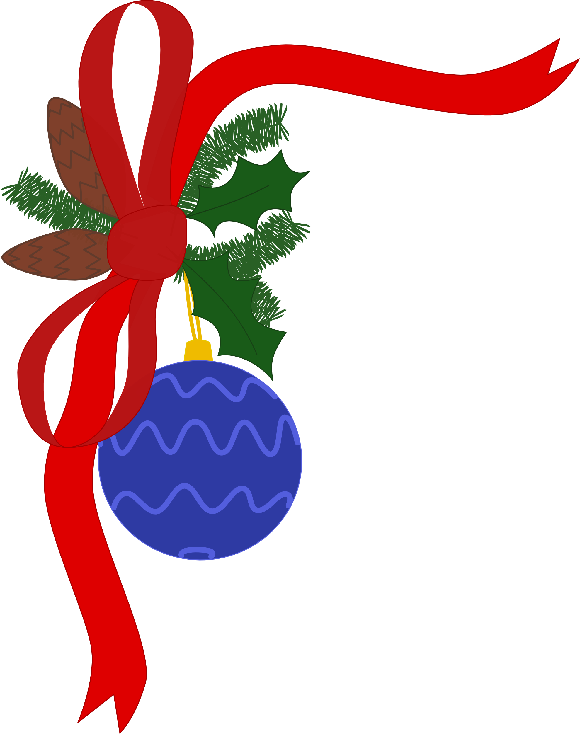 Holiday Decorations Clip Art.