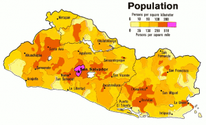 El Salvador Population Density 1980 Clip Art Download.
