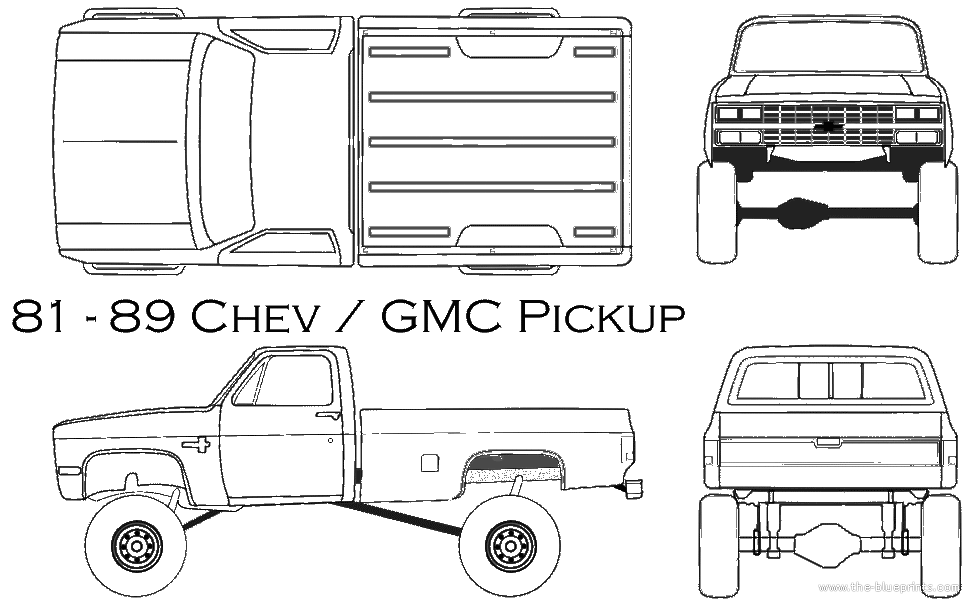 1981 chevy truck drawing.