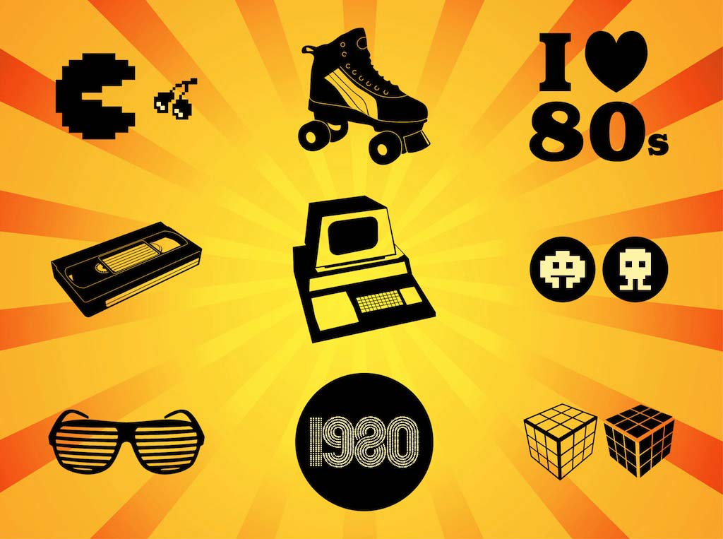 Eighties Vectors Vector Art & Graphics.