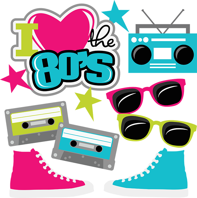 I Heart The 80's SVG cut files for scrapbooking 80's svg files.