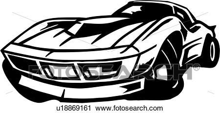 corvette clip art.
