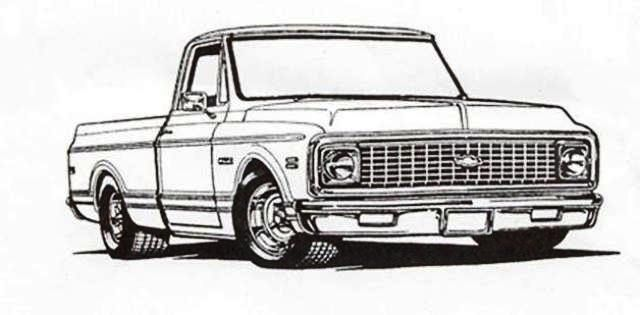 1981 Chevy Pickup Truck drawings.