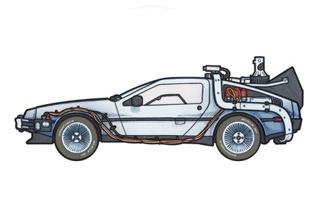 Back to the future delorean clipart.