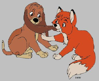 COPPER & TODD ~ The fox and the hound, 1981.