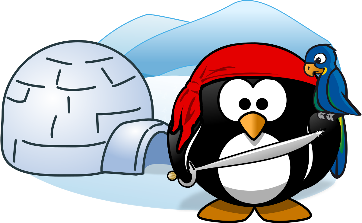 Pirate In Antarctica Clipart by Moini : Bird Cliparts #1981.