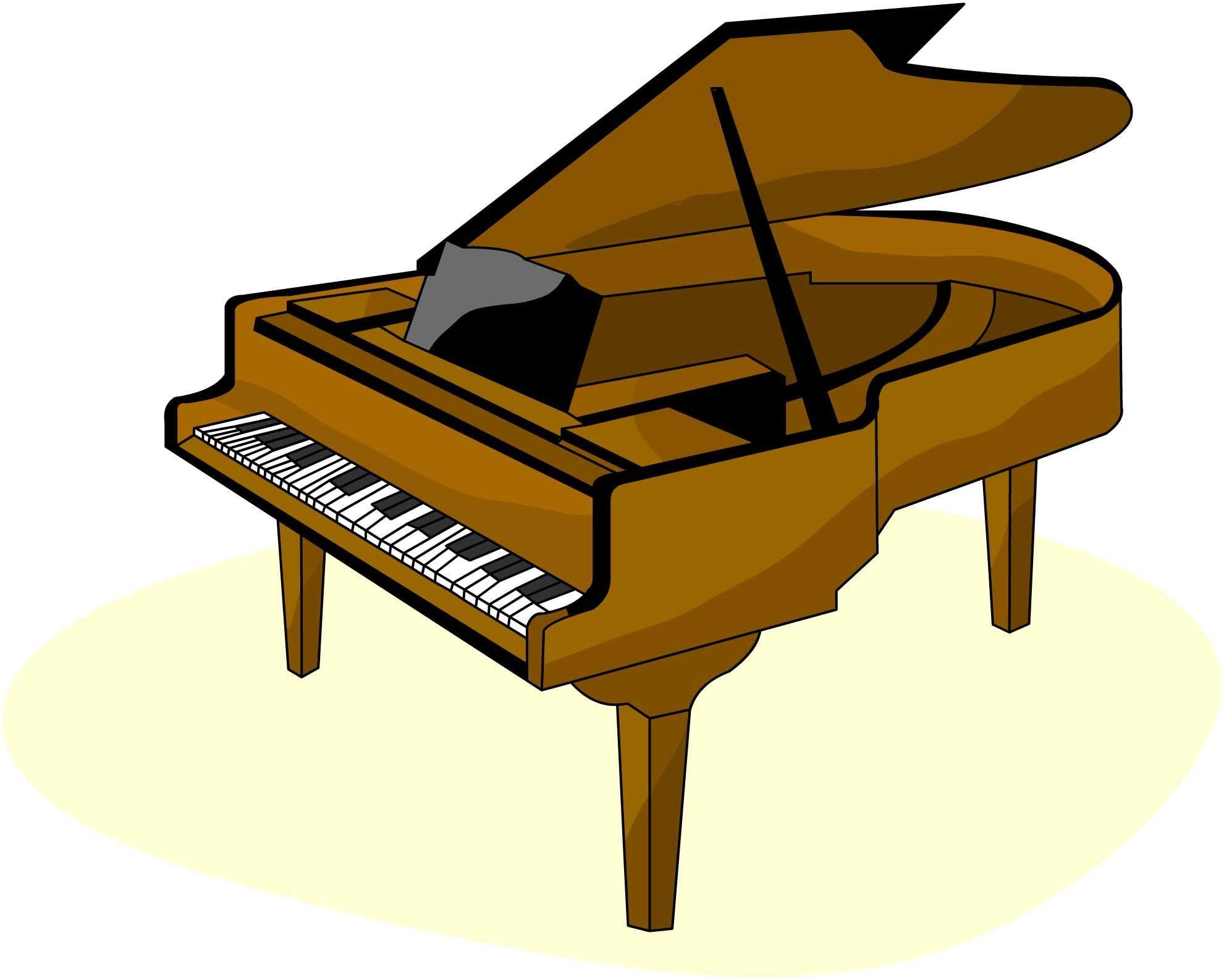 Piano clip art pictures.