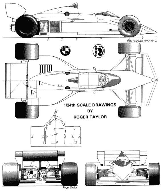 Race car profile clipart.