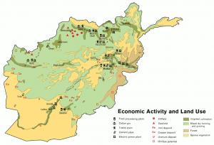 Afghanistan Land Use 1982 Clip Art Download.