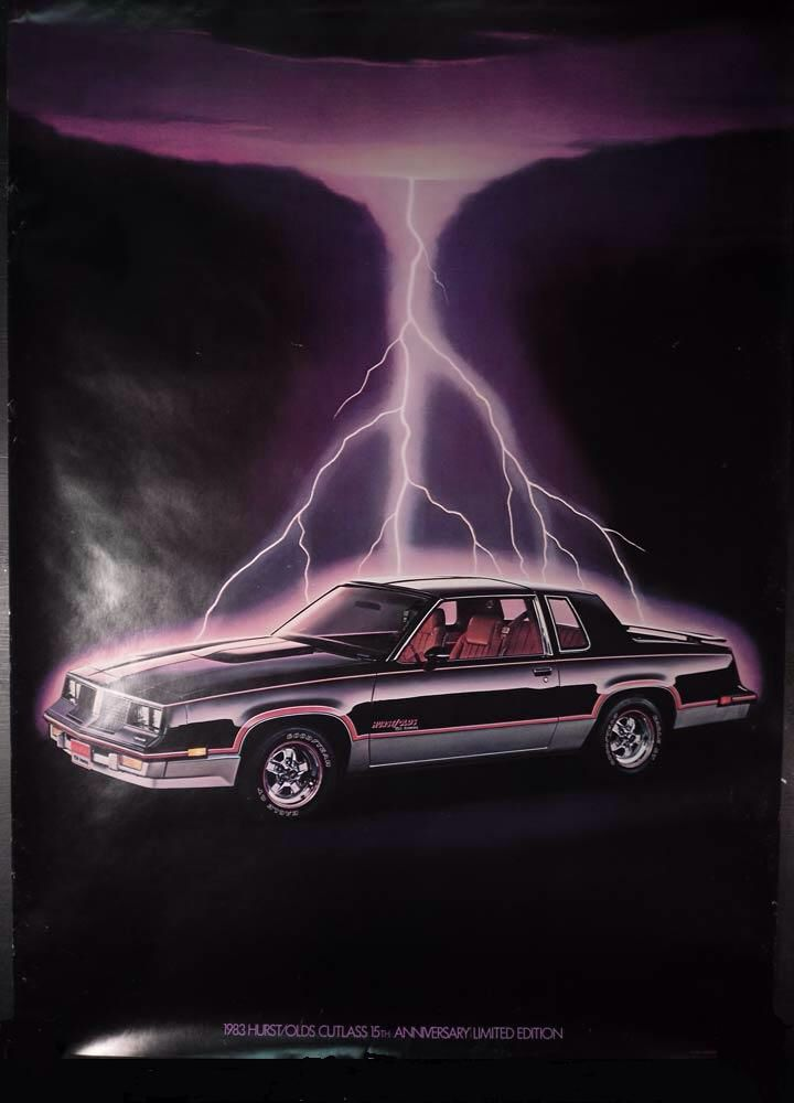 83 Hurst/Olds Dealer Promo Lightning Poster.