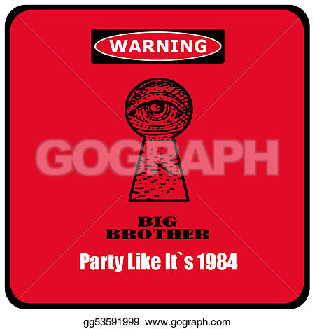 Big Brother 1984 Clipart.
