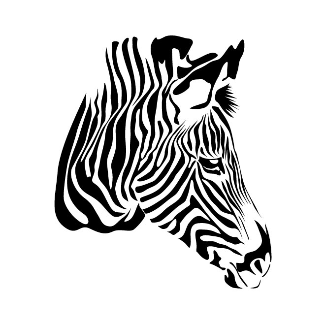 ZEBRA VECTOR GRAPHICS.