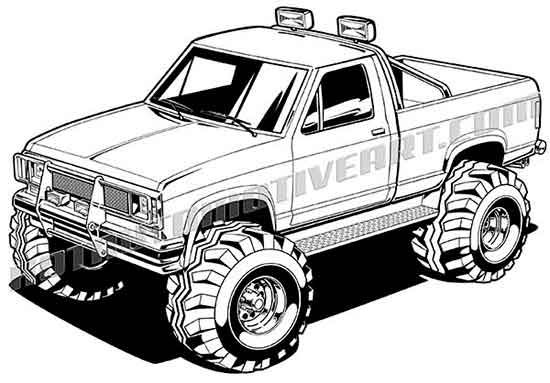 Fire Truck With Super Water Canon Coloring Page together with 1970 Dodge Challenger moreover Clipart Police Car moreover Drawing Of Toyota as well Watch. on old ford truck drawings