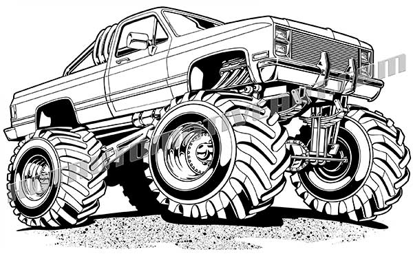 4x4 off road coloring pages   4x4 clipart - Clipground
