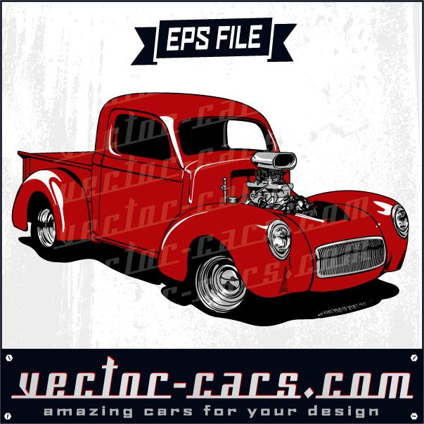 Red Hotrod Truck, Vintage Ford And More On Our Website.