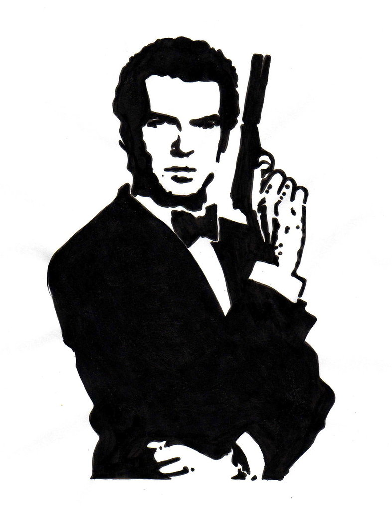 Clipart james bond.