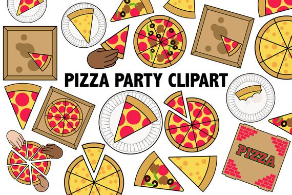 PIZZA PARTY CLIPART.