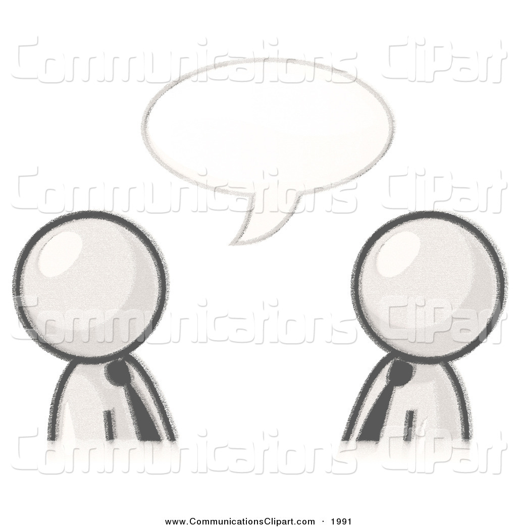 Communication Clipart of a Sketched Design Mascot Businessmen.