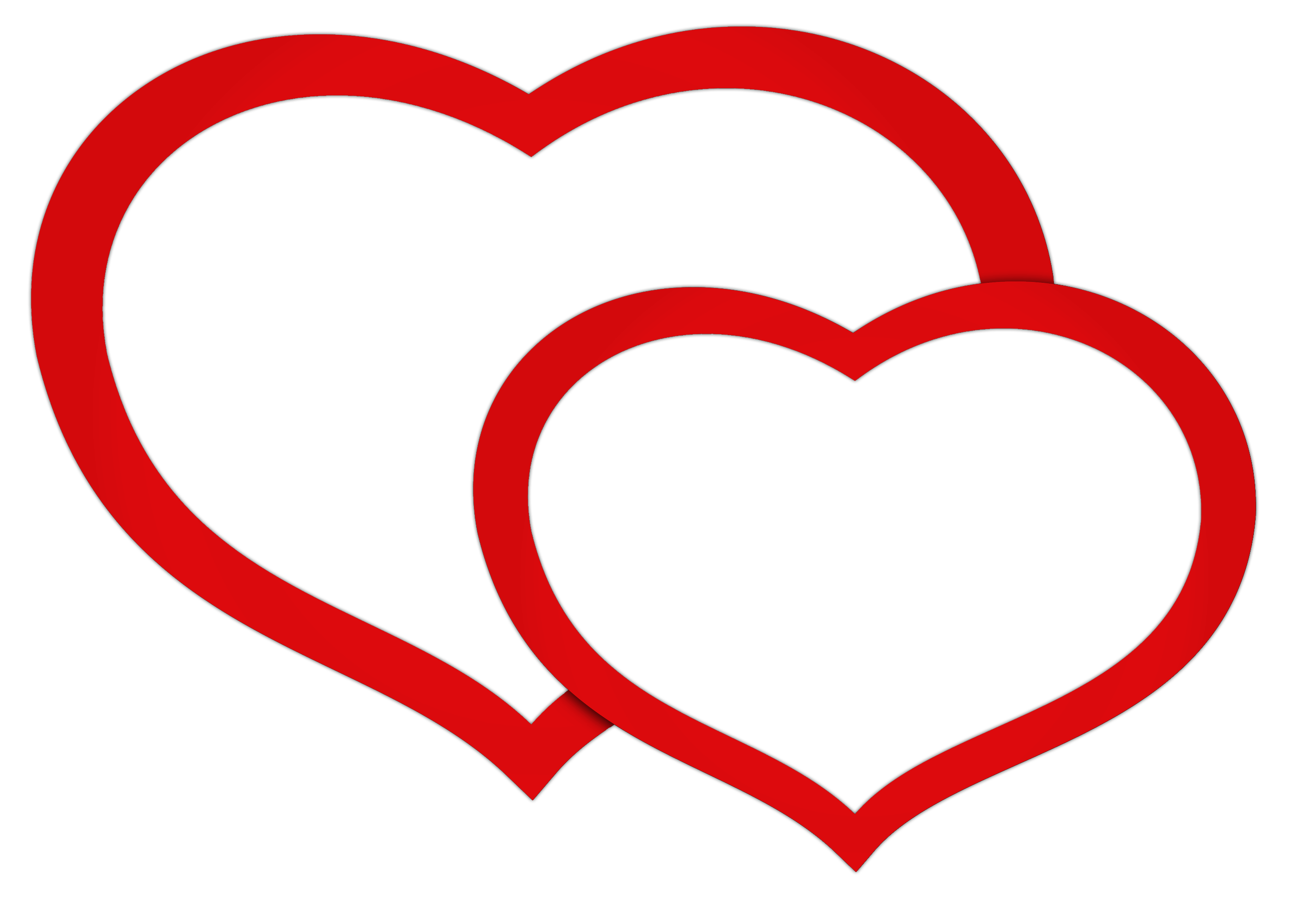 Double heart clipart images.