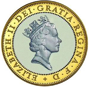 1997 £2 QUEEN WITH NECKLACE NECKLESS TWO POUND COIN RARE COIN HUNT.