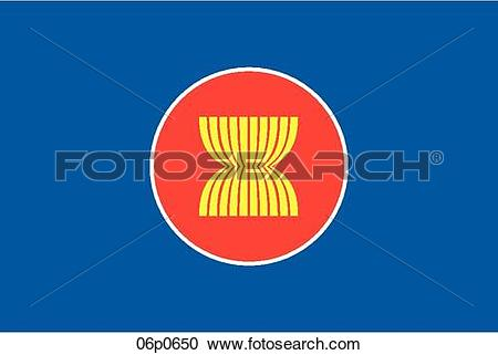 Clipart of asean flag 1997 06p0650.