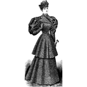 Late 19th Century Lady's Outfit Clipart.