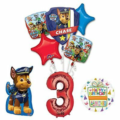 The Ultimate Paw Patrol 3rd Birthday Party Supplies and Balloon Decorations  708450614104.