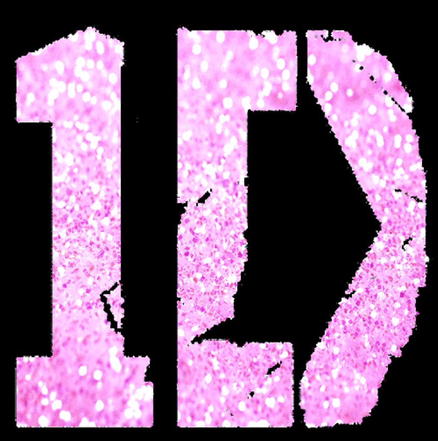 1D logo (pink) uploaded by Onedirection30 on We Heart It.