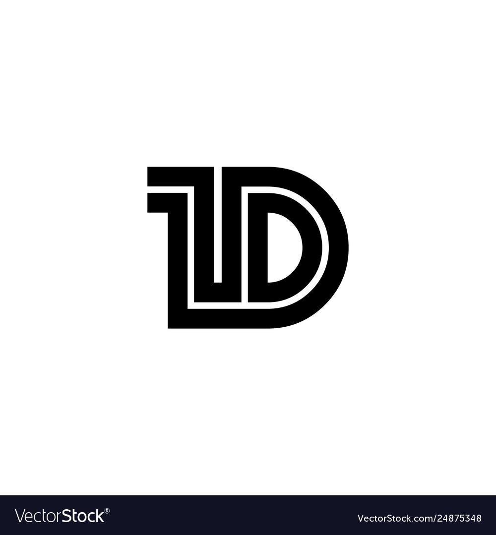 Initial letter 1d design logo template.