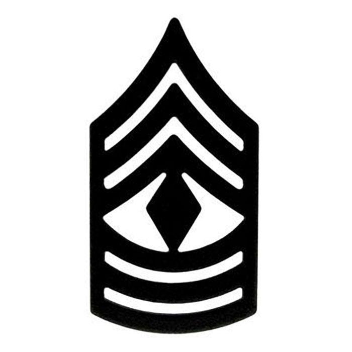 Chevron First Sergeant Submetal Pin.