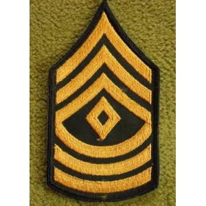 First Sergeant US Army Rank Insignia Chevron.