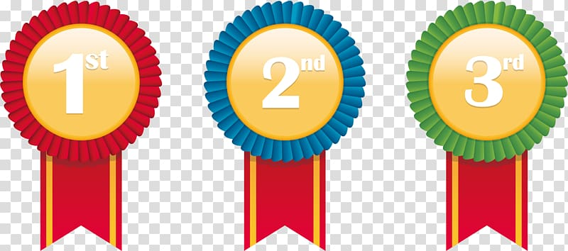 1st, 2nd, and 3rd ribbon , Medal Prize Icon, Prizes.
