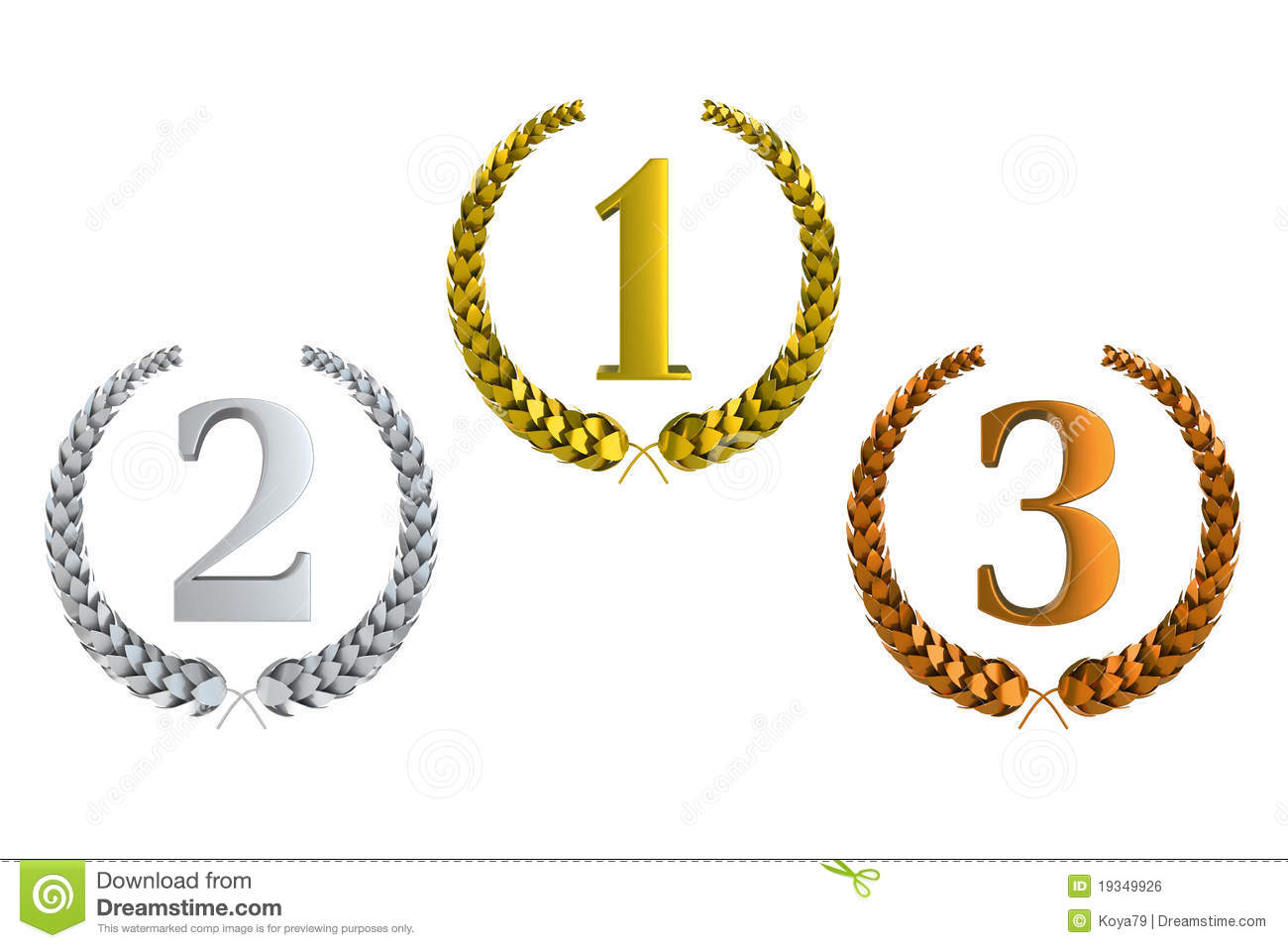 1st 2nd 3rd Place Clipart.