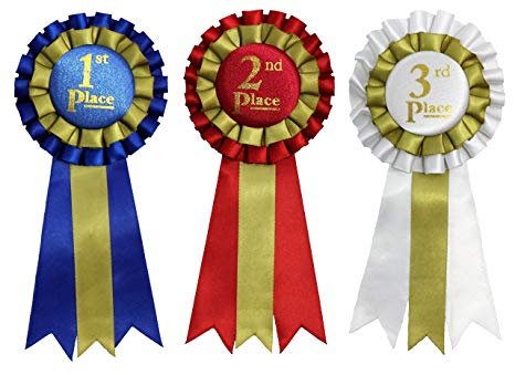 Premium Award Ribbons 1st, 2nd, 3rd Place.