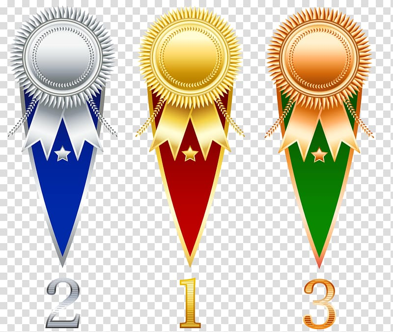 1st, 2nd, and 3rd place medals illustration, Prize Ribbon.