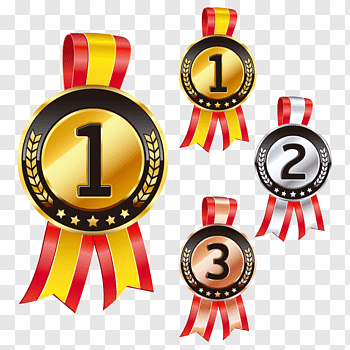1st, 2nd, and 3rd ribbon, Medal Prize Icon, Prizes free png.
