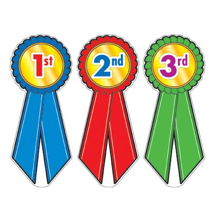 1st 2nd 3rd Place Ribbons Clipart.
