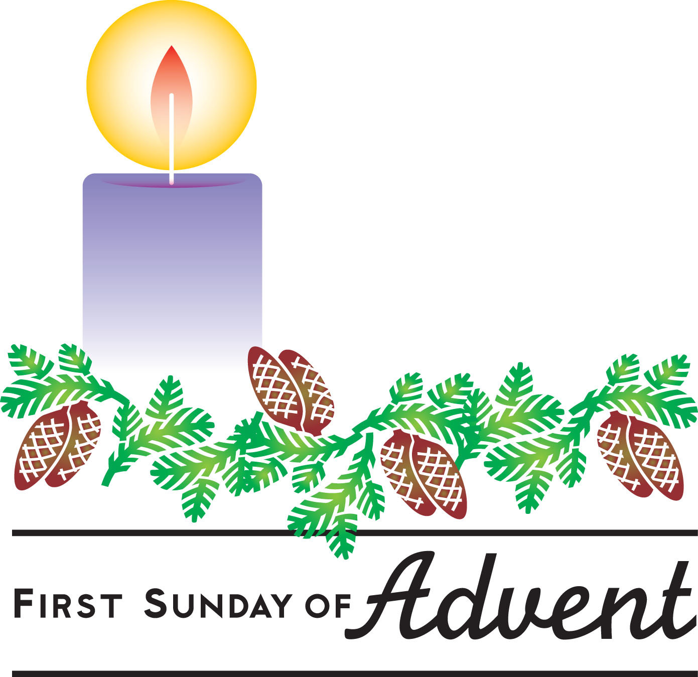 First Sunday Of Advent Hope Clipart.